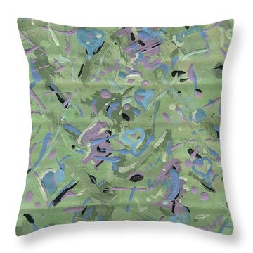 Throw Pillow featuring the painting Love by Yshua The Painter