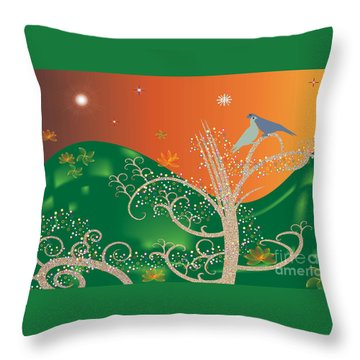 Lovebirds Throw Pillow by Kim Prowse