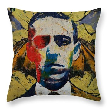 Lovecraft Throw Pillow by Michael Creese