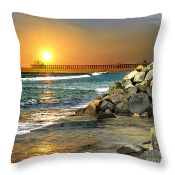 Loved By The Sun Throw Pillow