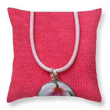 Loved With An Everlasting Love Pendant Throw Pillow by Carla Parris