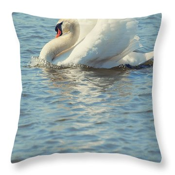 Lovely Bird Throw Pillow by Svetlana Sewell