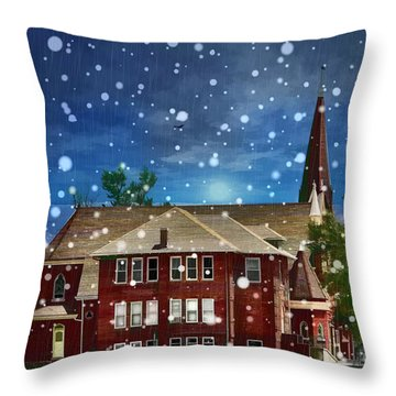 Lovely Country Church Throw Pillow by Liane Wright