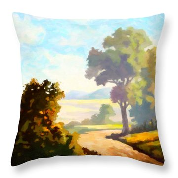 Lovely Day Throw Pillow by Anthony Mwangi