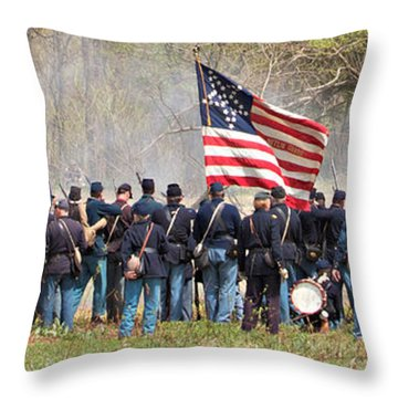 Lovely Flag Throw Pillow by Alice Gipson
