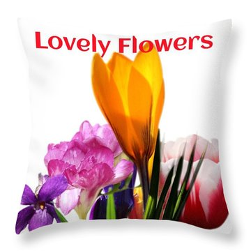 Throw Pillow featuring the digital art Lovely Flower by Gayle Price Thomas