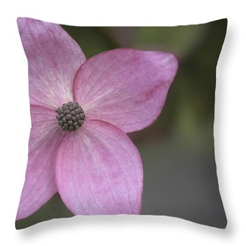Pink Four Throw Pillow by Jacqui Boonstra