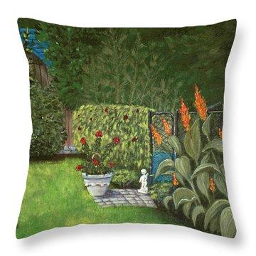 Lovely Green Throw Pillow by Anastasiya Malakhova