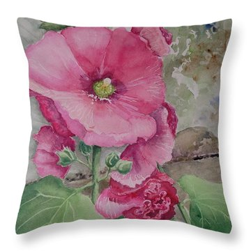 Lovely Hollies Throw Pillow