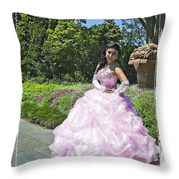 Lovely Lady At The Dallas Arboretum Throw Pillow