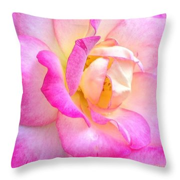 Lovely Lady Diana Rose Throw Pillow