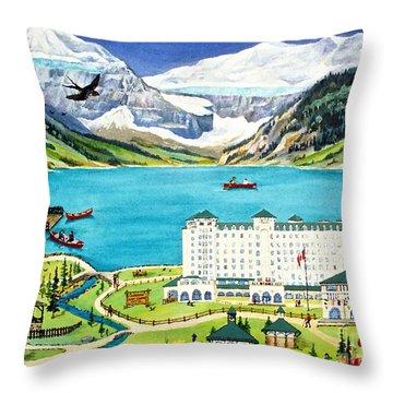 Lovely Lake Louise Throw Pillow by Virginia Ann Hemingson