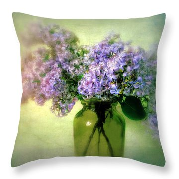 Lovely Lilac  Throw Pillow by Jessica Jenney