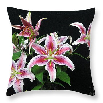 Throw Pillow featuring the photograph Lovely Lilies by Merton Allen