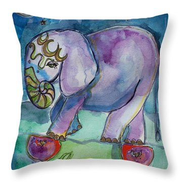 Lovely Little Elephant2 Throw Pillow