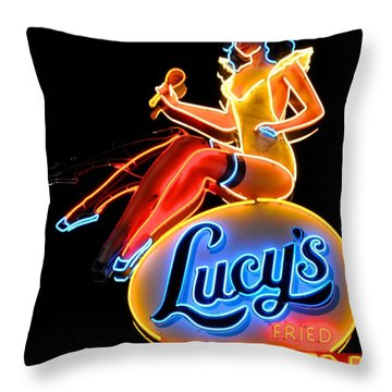 Lovely Lucy's Chicken Throw Pillow