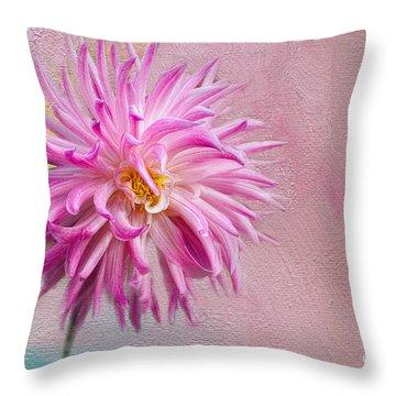 Lovely Pink Dahlia Throw Pillow