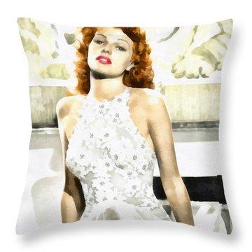 Lovely Rita Throw Pillow by Mo T