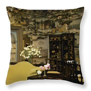 Lovely Room At Winterthur Gardens Throw Pillow by Trish Tritz