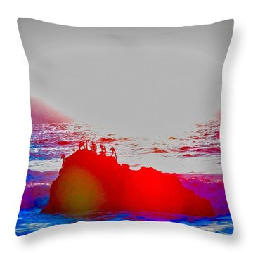 Lovemaking Throw Pillow
