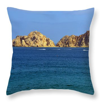 Throw Pillow featuring the photograph Lovers Beach Cabo by Christine Till