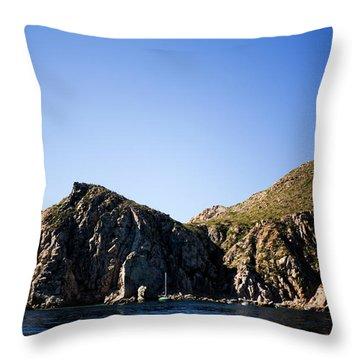 Lovers Beach In Cabo San Lucas, Mexico Throw Pillow