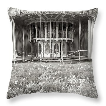 Throw Pillow featuring the photograph Lovers Carousel by Colleen Williams