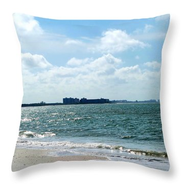 Throw Pillow featuring the photograph Lovers Key Beach by Oksana Semenchenko