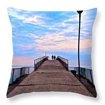 Lovers Lane Throw Pillow by Frozen in Time Fine Art Photography