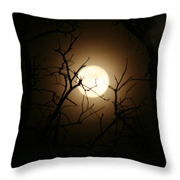 Lovers' Moon Throw Pillow