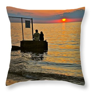 Lovers Overlook Throw Pillow by Frozen in Time Fine Art Photography
