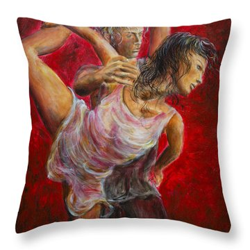 Lovers Red 04 Throw Pillow