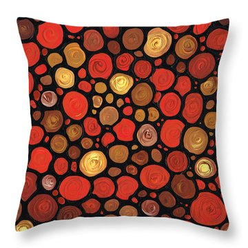 Lovers Throw Pillow by Sharon Cummings