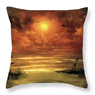 Lovers Sunset Throw Pillow