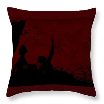 Throw Pillow featuring the photograph Lovers Under The Stars by Sandra Foster