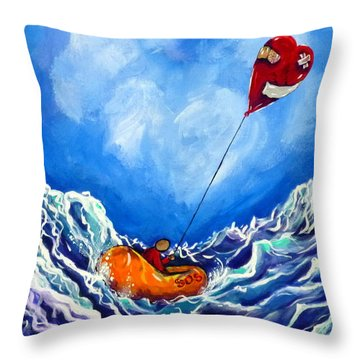 Love's Castaway Throw Pillow by Jackie Carpenter