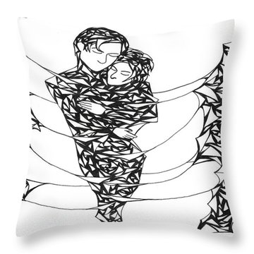 Love's Embrace Throw Pillow