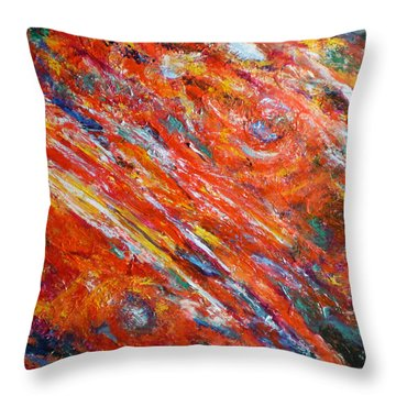 Loves Fire Throw Pillow by Michael Durst