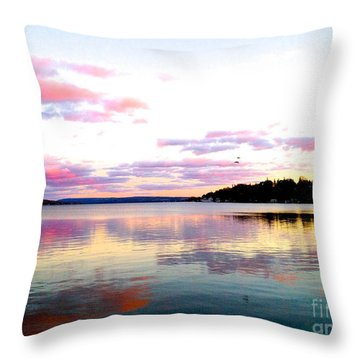 Love's Sky Throw Pillow by Margie Amberge