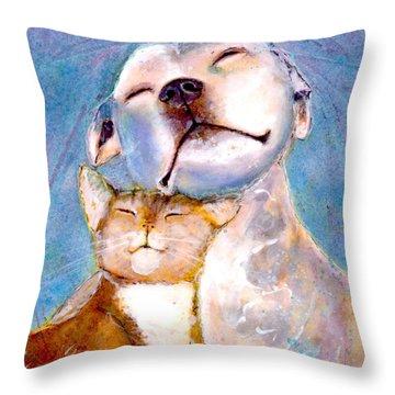 Lovey Dovey Throw Pillow by Marie Stone Van Vuuren