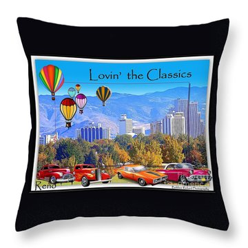 Lovin The Classics Throw Pillow