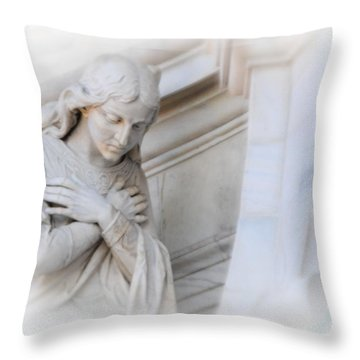 Loving Angel Throw Pillow by Kathleen Struckle