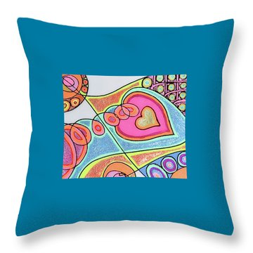 Loving Heart Connection Throw Pillow by Sheree Kennedy