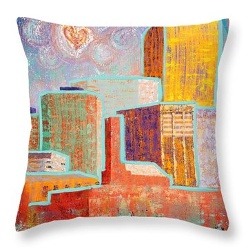 Loving It In Denver Throw Pillow