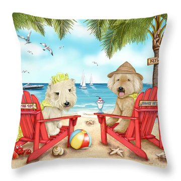 Loving Key West Throw Pillow