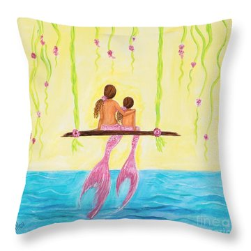 Loving Sunshine Throw Pillow by Leslie Allen