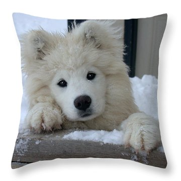Loving The Snow Throw Pillow