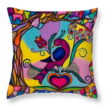 Loving The World Throw Pillow