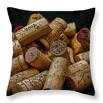 Loving Wine Throw Pillow by Patricia Hofmeester