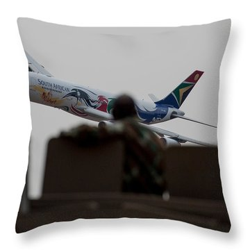 Low Airbus Throw Pillow